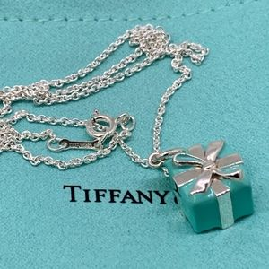 "NWOT Tiffany & Co Tiffany Blue Box Charm "" Chain"